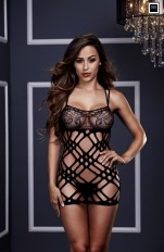 Sömlösa Baci - 3128 Double Strap Lace Mini Dress