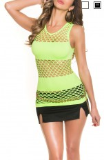 Toppar Forever Sexy - 9300 Top/ Mini Fishnet Dress