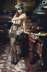 Garter stockings Baci - 2008 Afterdark Sheer Lace Top Garter Hose