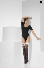 Maskerad Strumpor/Stay ups Fever - 43547 French Maid Hold-Ups