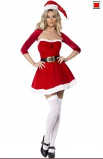 Jul / Jultomte Fever - 2077 Santa Babe Costume