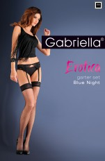 Strumpebandshållare Gabriella - Erotica Blue Night Garter Belt & Stockings