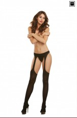 Stay ups hållare Dreamgirl - 0250 Sexy Suspender Pantyhose