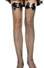 Kostym Strumpor/Stay-ups Leg Avenue - 9055 Sexy Gangster Costume Fishnet Stay Ups