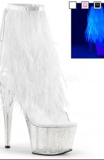 Sexiga Pumps Pleaser - ADORE-1017MFF Marabou Fur Fringe Ankle Boot