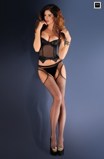 Garter stockings Gabriella - Strip Panty 151 Höfthållare & Strumpor