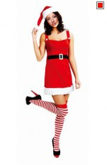 Jul / Jultomte Santa Girl Costume 128021