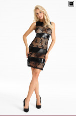 Wet-look, Metallic 7heaven - D190 Dress